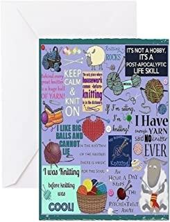 CafePress Knitters Card Greeting Cards Greeting Card, Note Card, Birthday Card, Blank Inside Glossy