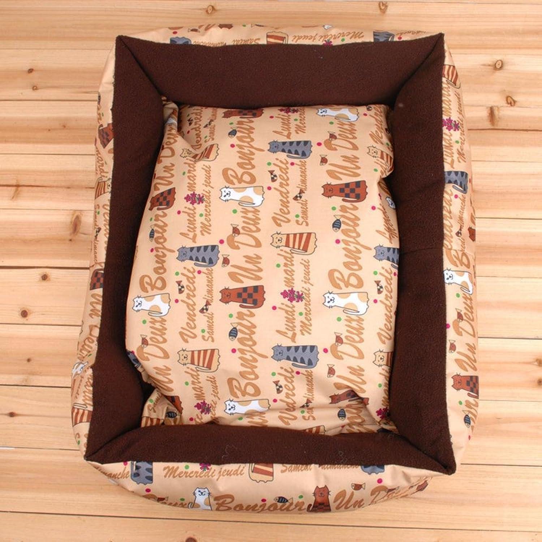 Aoligei Pet Nest FivePolar Fleece +pp Cotton Kennel cat Nest, 60cm45cm18cm Perfect for Sunbathing mat, Nap&Sleeping Bed