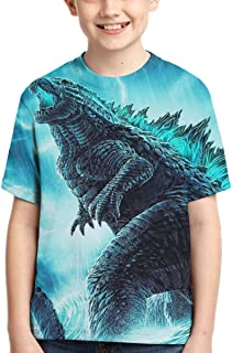 Godzilla Kids T Shirts Short Sleeve Tops Tee for Boys Girls