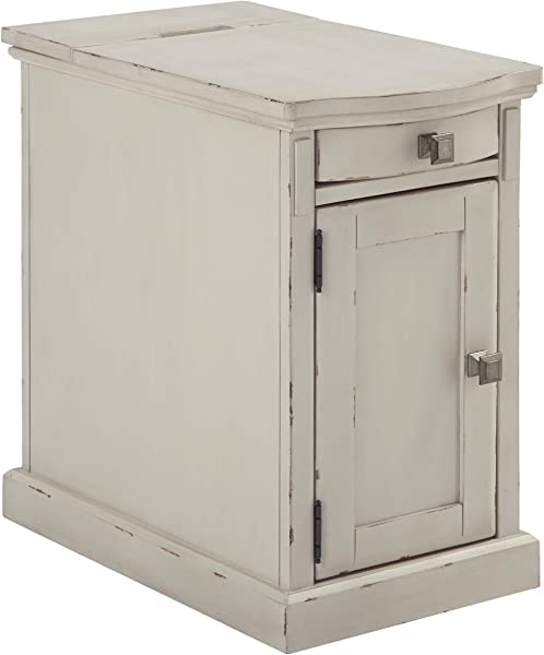 Ashley Furniture Signature Design Laforn Chairside End Table White
