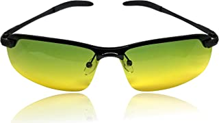 UV400 HD TAC Polarized Trendy Sunglasses for Men - Superior Anti Glare Quality Stylish Driving Glasses - 100% UVA and UVB Protection for Camping Fishing SHTF Daysight Hunting or Sporty Night Vision