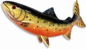 LX Handpainted Brown Brook Trout Statue Game Fish Replica 10