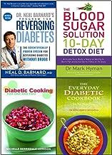 Program for reversing diabetes, blood sugar solution 10-day detox diet cookbook 4 books collection set