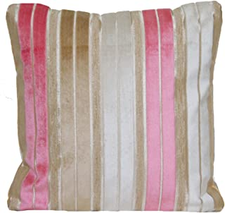 Designers Guild Striped Velvet Decorative Pillow Thow Case Pink Stipes Cushion Cover Regence