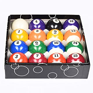 """Pool Balls Set Standard Size 2-1/4"""" Billiard Pool Balls Full 16 Balls Set"""