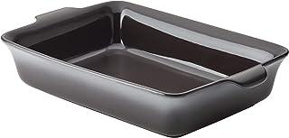 Anolon Vesta Baking Dish/Lasagna Pan/Ceramic Rectangular Bakeware, 9 Inch x 13 Inch, Graphite Gray