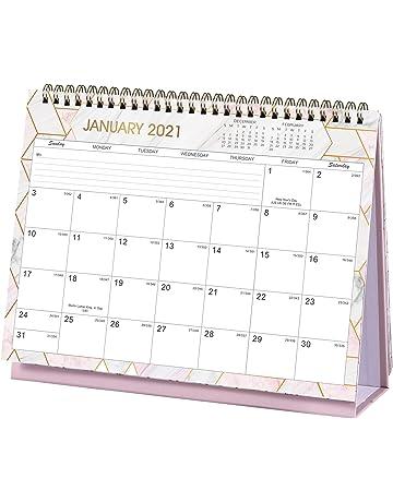colore: blu scuola accessori da scrivania Tao pipe piccolo calendario perpetuo ufficio Mini calendario da scrivania 2020-2021 per casa da luglio 2020 ad agosto 2021