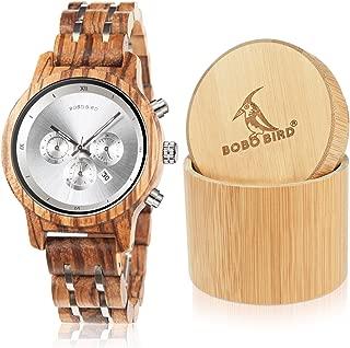 Women Wooden Watches Luxury Wood Metal Strap Chronograph & Date Display Quartz Watch Fashion Zebra Wood Casual Business Ebony Wristwatches