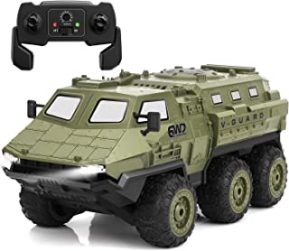 Koonie RC Cars, 1:16 Scale Remote Control Car, 2.4Ghz Off-Road Remote Control Truck, High Speed Armored Vehicle with 6WD, 60 Min Play, 2 Batteries, 30m RC Distance for Kids, Adults