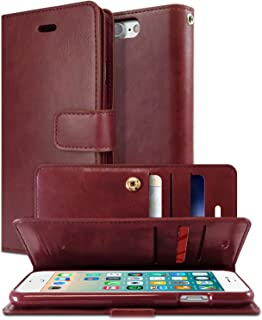Goospery Mansoor Wallet for Apple iPhone 8 Plus Case (2017) iPhone 7 Plus Case (2016) Double Sided Card Holder Flip Cover (Wine) IP7P-MAN-WNE