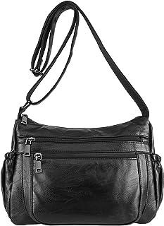 Ayliss Women Casual Shoulder Bag Retro Soft PU Leather Crossbody Messenger Bag