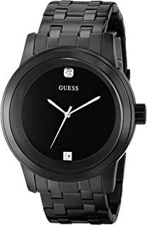 GUESS Black Round Diamond Watch