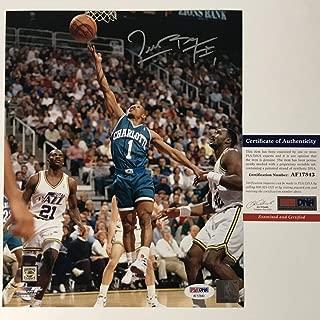Autographed/Signed Muggsy Bogues Charlotte Hornets 8x10 Basketball Photo PSA/DNA COA