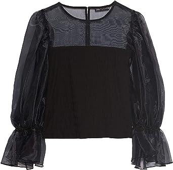 Zara 5644/460/800 - Camiseta de Manga Larga para Mujer ...