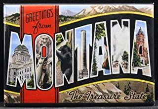 Greetings from Montana Refrigerator Magnet.