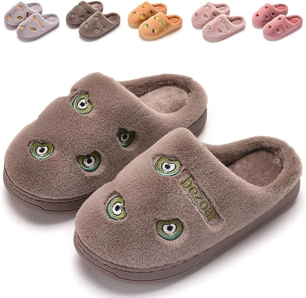 FINLEOO Toddler Boys Girls Slippers House Popular standard Little Fluffy Price reduction Kids Sli