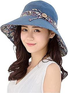 GuaziV Women's Summer Reversible Sun Hats UPF 50+ Outdoor Foldable Beach Cap