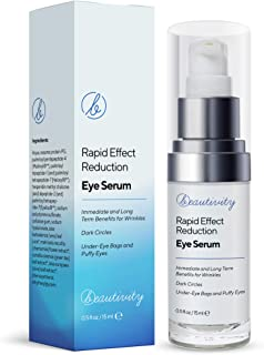 Rapid Reduction Eye Serum Eye Cream Eye Wrinkle Cream Reduce Under-Eye Bags, Wrinkles, Dark Circles, Fine Lines & Crow's Feet Instantly and Visibly for Women Men