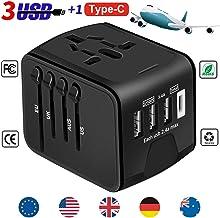 YooGoal Universal Travel Adapter Quick USB Charger with 1 Type C and 3 USB Ports International World Power Plug Adapter Ki...
