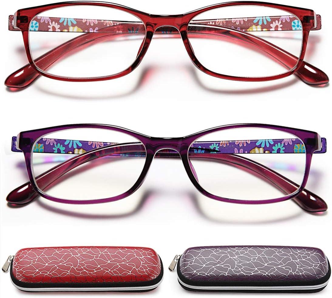 Buy EYEURL Reading Glasses Womens Blue Light Blocking   20 Pairs ...