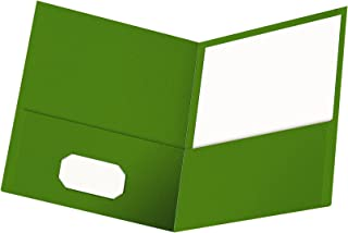 Oxford Twin-Pocket Folders, Textured Paper, Letter Size, Green, Holds 100 Sheets, Box of 25 (57503EE)