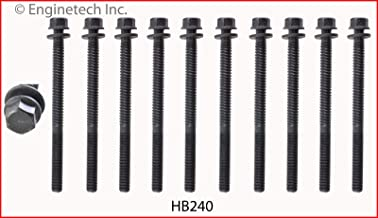 ENGINETECH HB240 HEAD BOLT SET compatible with 1988-1995 HONDA 1.5L 1.6L D15 D16Z6 (1 SET REQ.)