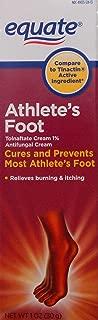 Equate Athlete's Foot Tolnaftate Cream 1% 1 oz Compare to Tinactin