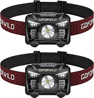 2 Pack of Rechargeable Headlamp, 500 Lumens White Cree LED Head lamp with Red light and..
