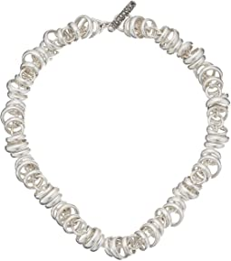 C.B219TMA/A/43 Rondelle  Chain Necklace 43cm