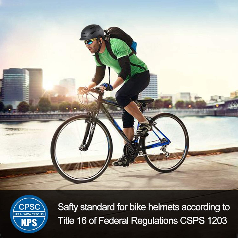 LEDIVO Adult Bike Helmet with Rear Light Cycling Helmet Certified for Urban Commuter Adjustable for Men//Women