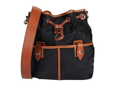 Dooney & Bourke Wayfarer Drawstring (Black) Drawstring Handbags