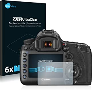 savvies Protector Pantalla Compatible con Canon EOS 5DS / 5DS R (6 Unidades) Pelicula Ultra Transparente