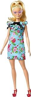 Mattel Barbie - Fashionistas lalka, w jasnoniebieskiej sukience, z nadrukiem kwiatków