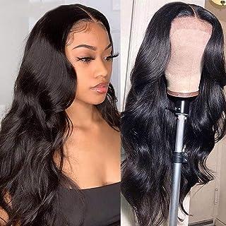 Alliggic Body Wave 5x5 HD Transparent Lace Closure Wigs for Black Women Brazilian Virgin Hair Body Wave Lace Closure Human...