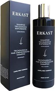 ERKAST, Shampoo Anticaduta Donna Uomo, Trattamento Professionale Rinforzante Naturale, Stimola la Crescita, Utile Contro l...