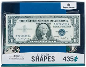 Paper House Productions PUZ-0051E Shaped Puzzle, Dollar Bill
