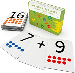 Attractivia Magnetic Number Flash Cards - Large 0-25 Number Cards with Addition, Subtraction, Multiplication and Division ...