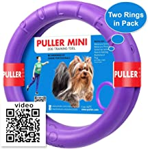 COLLAR Dog Toy - Interactive Small Midi Dog Puppies Training - Fetch Toy - Dental Healthy - Dog Toys Set Two Rings by Puller Mini Plus
