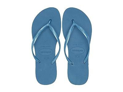 Havaianas Slim Flip Flops (Blue) Women