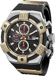 ARMATO Brillante - Two-Tone Gold Men Watch with Carbon Fiber Bezel