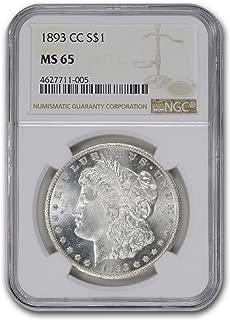 1893 cc morgan silver dollar ms65