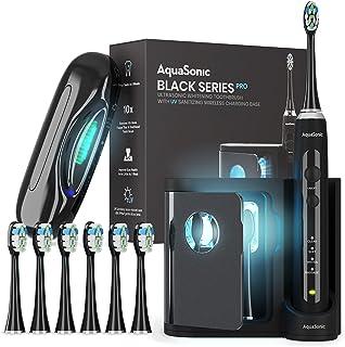 AquaSonic Black Series PRO - مسواک فوق العاده سفید کننده با پایه UV - 4 حالت