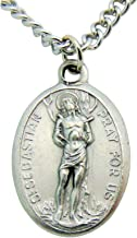 Westman Works Men's Patron Saint Medal 3/4 Inch Long with Stainless Steel Chain