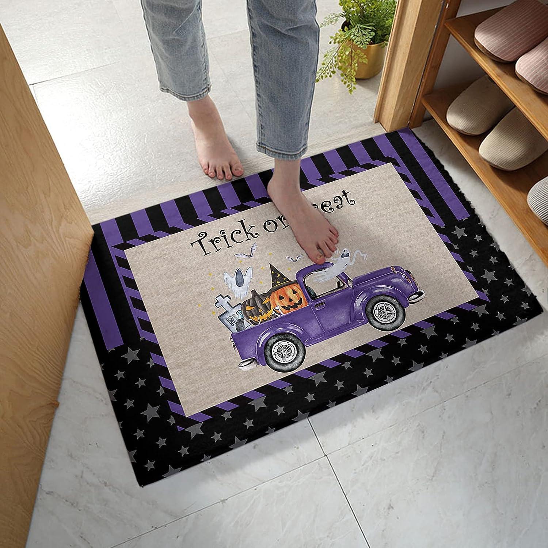 Fangship Bathroom Rug Bath Mat Halloween Treat Purple Trick Or Free shipping T Seasonal Wrap Introduction