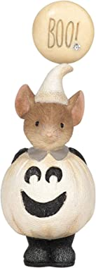Enesco Gift Halloween Mice Collectible Figurines Bundle of 2, Happy Boo to You and Pumpkin Spice
