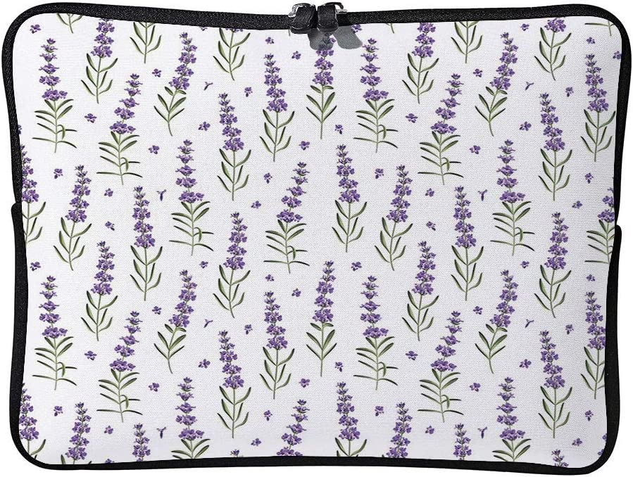 C COABALLA Lavender Scattered Leaves Spring Time Laptop Sleeve Case Water-Resistant Protective Cover Portable Computer Carrying Bag Pouch for Laptop AM020217 17 inch//17.3 inch