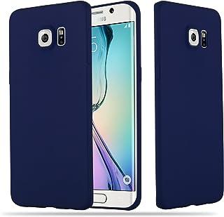 9092ebffa65 Cadorabo Funda para Samsung Galaxy S6 Edge Plus en Candy Azul Oscuro –  Cubierta Proteccíon de