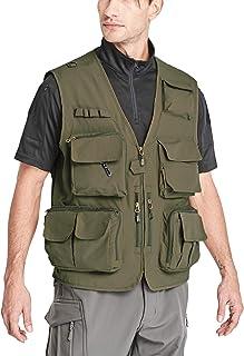 MAGCOMSEN Men's Fishing Vest with 15 Pockets Quick Dry Outdoor Photographers Journalist Utility Vest