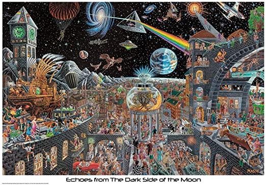 Canvas Pink Floyd Echoes From The Dark Side Of The Moon Art Print Poster