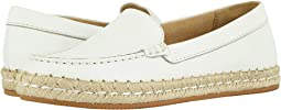 White Pebble Leather